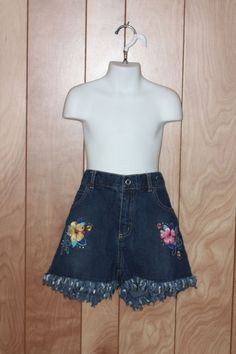 GIRL'S THE CHILDREN'S PLACE FLORAL DENIM SHORTS-SIZE: 14 #THECHILDRENSPLACE #Everyday