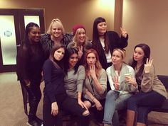 Anna Kendrick and Rebel Wilson were spotted beside the Bellas in 'Pitch Perfect tease. Anna Kendrick Pitch Perfect, Pitch Perfect 1, Pitch Perfect Actors, Perfect Movie, It Movie Cast, It Cast, Divas, Anna Camp, Rebel Wilson