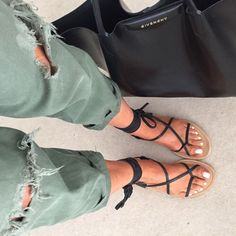 These sandals with everything!