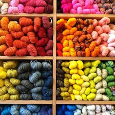 Dreamy color + order at Purl in Soho.