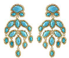 Ashton Earrings in Turquoise by Kendra Scott