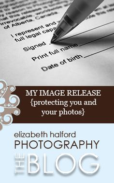 Click image above for an example of a stellar release form that photographers should be giving to their clients along with their digital negatives.