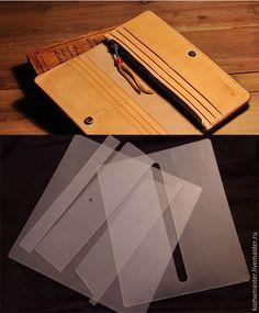 Купить Набор шаблонов из пластика + Выкройка длинного кошелька из кожи - выкройка, разноцветный