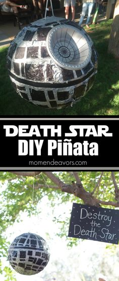 Easy DIY Death Star Piñata Directions - perfect fun for Star Wars Party!