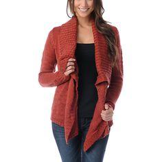 Element Lariat Red Wrap Sweater