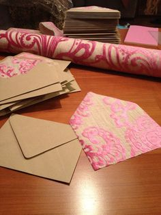 wedding planning: envelope lining project | BUCKETS AND BUNCHES - we need to do this as a project!