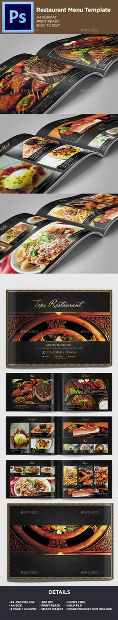 Restaurant Menu - Food Menu Template - Food Menus Print Templates Download here : https://graphicriver.net/item/restaurant-menu-food-menu-template/19686934?s_rank=15&ref=Al-fatih