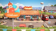Happy Food by Yum Yum London. Something to enjoy in your lunch break :) Created by Yum Yum, Audio by David Kamp 3d Character, Character Design, Illusion 3d, 3d Cinema, 3d Video, Cool Animations, Happy Foods, Sound Design, Flyer