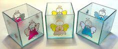 Portavelas En Vidrio Pintado - Souvenirs Comunion - $ 32,00 en MercadoLibre
