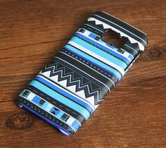 Blue Tribal Samsung Galaxy S7 Edge S7 Case Galaxy S6 edge+ S5 S4 S3 Samsung Note 5/4/3/2 Cover S7-033