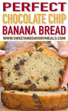 How To Make Tortilla Chips Chocolate Chip Banana Bread Is Made With Ripe Bananas, Delicious Chocolate Chips, Which Results In A Super Moist And Incredibly Tender Bread. Chocolate Chip Banana Bread, Chocolate Chip Recipes, Banana Bread Recipes, Almond Recipes, Chocolate Chips, Moist Banana Bread, Vegan Banana Bread, Keto Bread, Zucchini Bread
