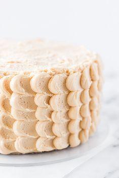 Salted Caramel Layer Cake - Vanilla Bean Sponge with Salted Caramel Sauce and Salted Caramel Buttercream | bakelovegive.com