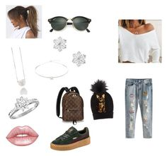 """Untitled #121"" by tytiana-ransom on Polyvore featuring Puma, Champion, Ray-Ban, Talbots, Jack Vartanian, Tiffany & Co., Lime Crime and Dolce&Gabbana"