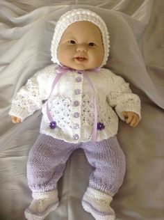 Baby Sweater Pants Bonnet and Shoes for a by Meganknits4charity