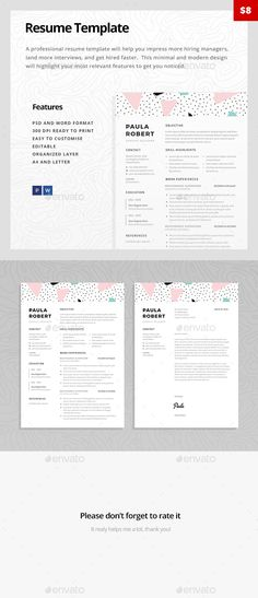 Nurse Resume Template Professional resume, Simple resume and Cv - resume template microsoft