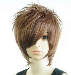 Amazon.co.jp: 学園祭・プチ変装 メンズウィッグ盛り髪イケメン風 ダークブラウン ウィッグスタンドセット: ホビー