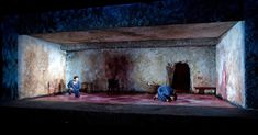 Guards at the Taj. Atlantic Theatre Company. Scenic design by Timothy Mackabee.