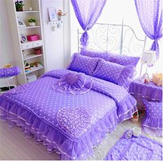 aab2279340 Buy Luxury Cotton Nursery Bedding Sets Duvet cover princess bed Crib bedding  set Christmas Birthday gifts Lace Bedskirt at Wish - Shopping Made Fun