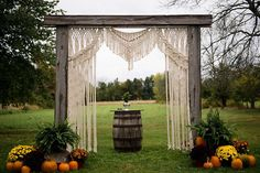 Full Length // Macrame Wedding Backdrop // Arch // Curtain