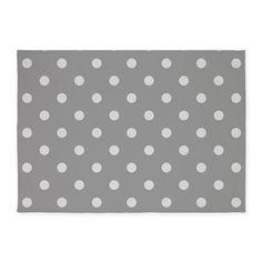 Grey Polka Dots 5x7'Area Rug on CafePress.com