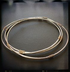"Simple enough for everyday ""Hammered Silver and Gold Fill Bangle. Click here! http://www.arturbane.com/collections/bracelets/products/hammered-silver-gold-fill-bangle #fashion #jewelry #bracelet $55"