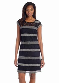 Madison Leigh  Allover Lace Shift Dress
