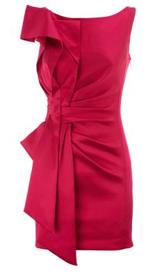 Love the fuchsia and all the draped but structured detailing
