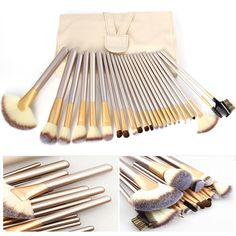 Twenty Four Piece Luxurious Makeup Brushes Case Set