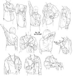 a-mas - black meadow Drawing Reference Poses, Drawing Poses, Manga Drawing, Figure Drawing, Drawing Sketches, Art Drawings, Shirt Drawing, Poses References, Drawing Clothes