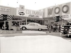 1950s era photo Negative CAR Sweet 2 Door Plymouth ? Dodge WOOLWORTH Carroll Co