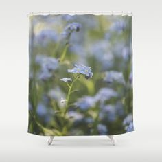Forget-me-not meadow  Shower Curtain #flowers #flower #spring #nature #homedecor #betterhome #society6 #photography #pillows #duvet #Throw Pillow #Duvet Cover #Phone Case #Rugs #Rug #Showercurtain #laptopsleeve #iphonecover #ipadcase #livingroom #bedroom #dorm decor #iPhone skin #iPod #iPhone case #pillow #clock #laptopskin #iPadcase #diningroom #bedroom #officedecor #home decor #galaxyphonecase #pillow #wallart #artprint #framedartprint #canvasartprint