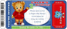 Cute Daniel Tiger's Neighborhood Digital Birthday by SDBDIRECT, $9.99