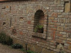 Brick Design, Fence Design, Patio Design, Garden Retaining Wall, Sloped Garden, Backyard Fences, Front Yard Landscaping, Front Gardens, Outdoor Gardens