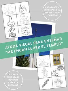 Para La Primaria: Musica: Ayuda Visual Para Enseñar Me Encanta Ver El Templo