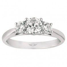 Three Stone design engagement ring at Kleinhenz Jewelers