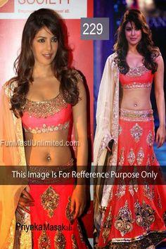 #Priyanka #Designer #Party #WLehnga with Heavy Dupatta Buy Now ♡♡♡♡ http://www.fashion4style.com/woman/clothing/designer-lehnga/designer-party-lehnga/pid=MTQ1