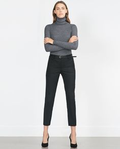CHINOS WITH BELT-View all-Trousers-WOMAN | ZARA United States