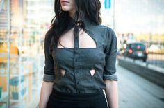 FAIIINT Cutout Shirt / FAIIINT Notched Skirt / H&M Neck Cuff / Daniel Wellington Watch * / Ligia Dias Chain Choker (worn as bracelet) / Topshop Boutique Bandage Wedges I've been sorting t…