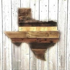 Texas Sign Large Wood Sign Wood Sign by ShineBoxPrimitives Reclaimed Wood Wall Art, Wooden Wall Art, Wooden Walls, Rustic Wood Wall Decor, Diy Wood, Texas Signs, Texas Crafts, Wood Crafts, Decor Wedding