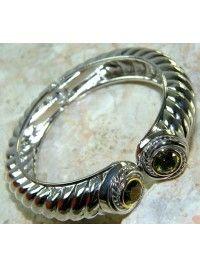 Bracelete Cuff Tonnau Peridoto