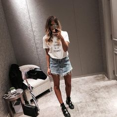 Denim skirt with booties