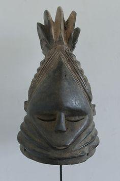 """African Mende """"Bundu"""" helmet mask (Sierra Leone)"""