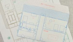 Floor plan letter set collection.