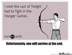 humor, funny, Twilight, Hunger Games I pick Taylor lautner to survive!
