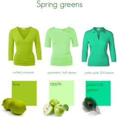 Spring greens by kettlewellcolours on Polyvore More