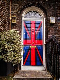 Union Jack door in Greenwich, London - British