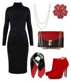 """""""Untitled #491"""" by mchlap on Polyvore featuring Undress, Samira 13, Christian Louboutin, Fendi and Louis Vuitton"""
