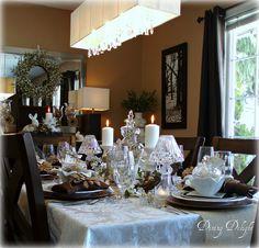 Rustic Elegance Easter Tablescape by dining delight, via Flickr  April 2014
