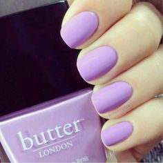 butter London Molly Coddled light purple / lilac nail polish / lacquer