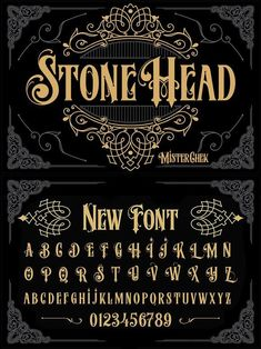 Stone Head Source by anna_schweidler Tattoo Lettering Fonts, Lettering Styles, Graffiti Lettering, Calligraphy Fonts, Typography Fonts, Font Art, Font Design, Lettering Design, Lettering Tutorial